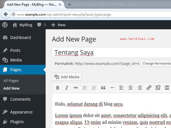 100 tambah halaman wordpress
