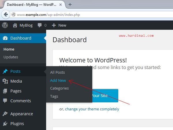 110 tambah postingan wordpress