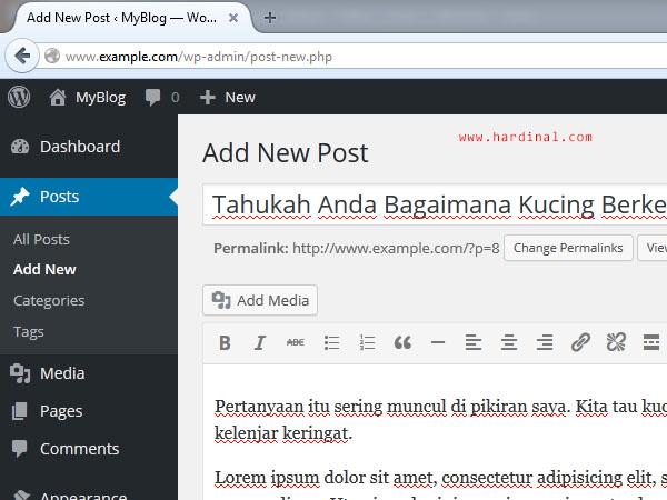 111 tambah postingan wordpress