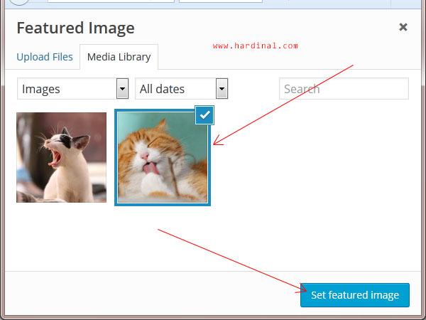 121 set featured image wordpress