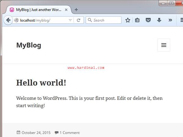 13 instalasi wordpress di localhost