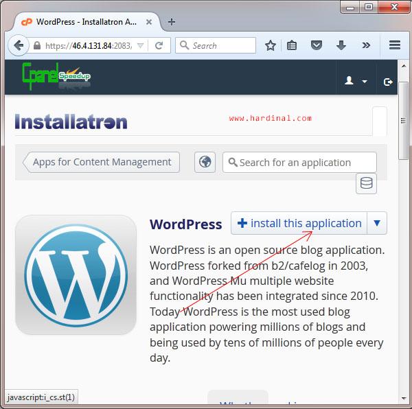 29 setting wordpress di cpanel