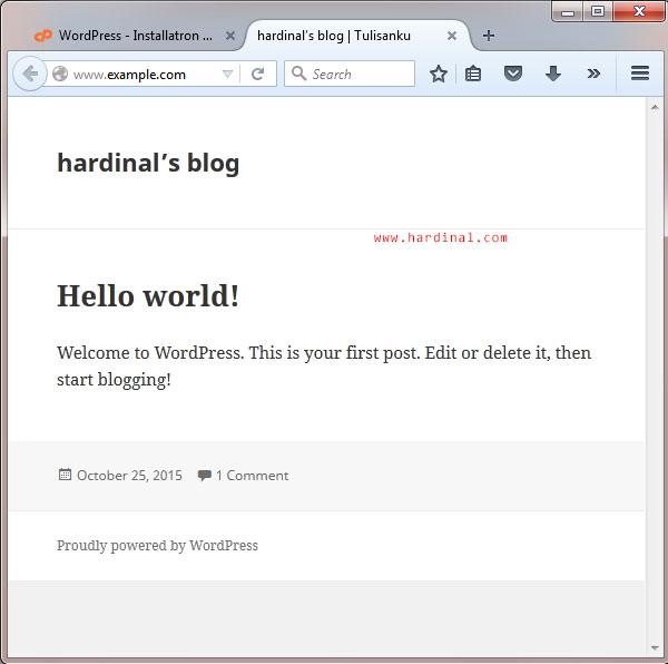 34 setting wordpress di cpanel