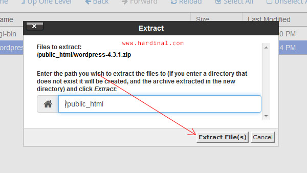 54 ektrak zip file manager cpanel