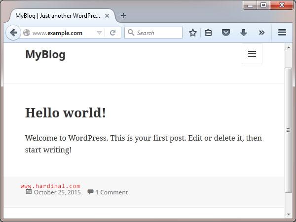 80 berhasil install wordpress secara manual cpanel