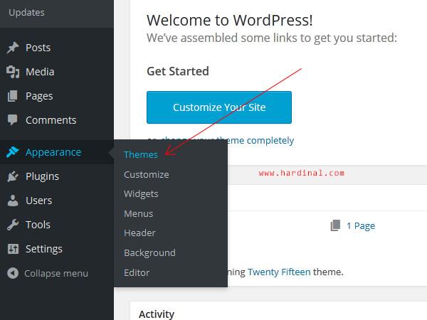 83 mengganti theme wordpress