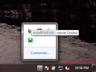 wamp taskbar online