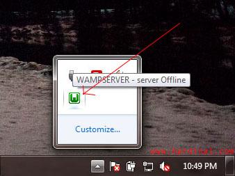 wamp taskbar